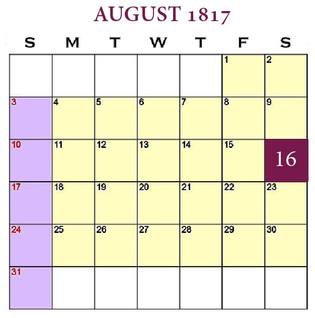 New Beginnings—Planting Good Seed, August 16, 1817