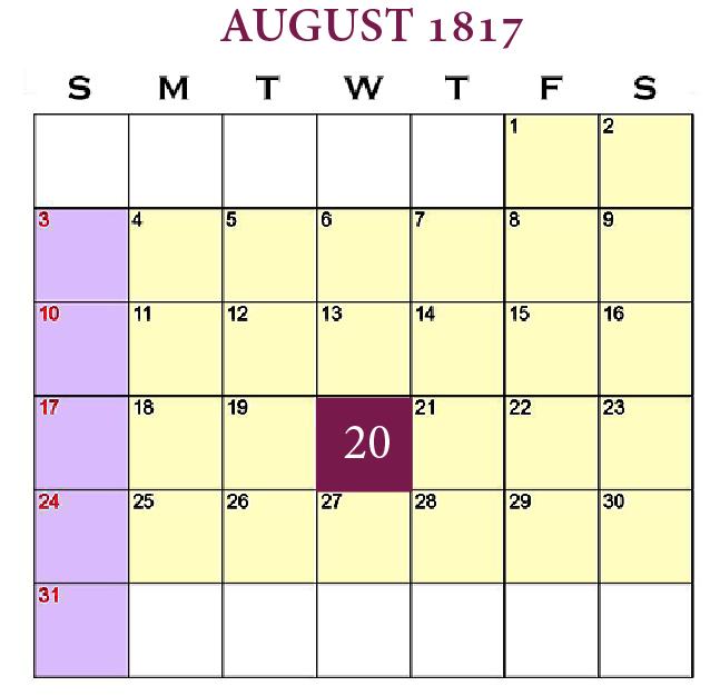 New Beginnings—Anticipation, August 20, 1817