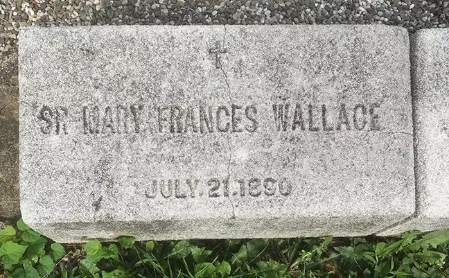 Gravestone, Sister Mary Frances Wallace