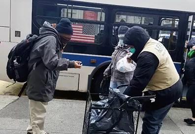 Food distribution in Harlem