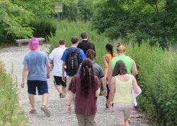 Students on a hike
