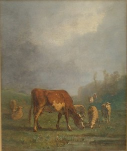 Artist: Antonio Cortes Title: Flock at Dusk Size: 15in x 18in Signed: Yes Framed: Yes