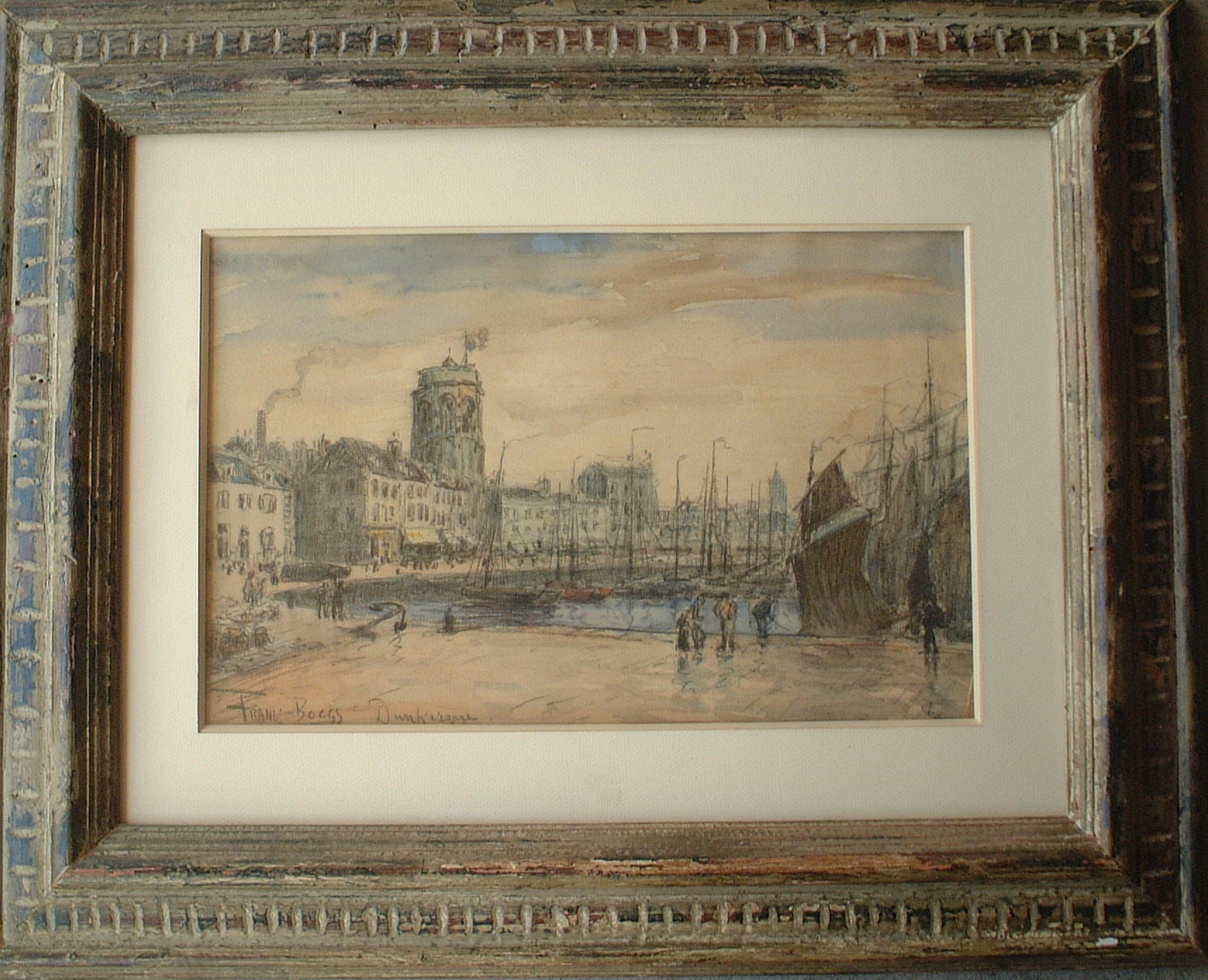 Artist: Frank Myers Boggs Title: Dankequre Size: 10.5in x 16in Framed: Yes