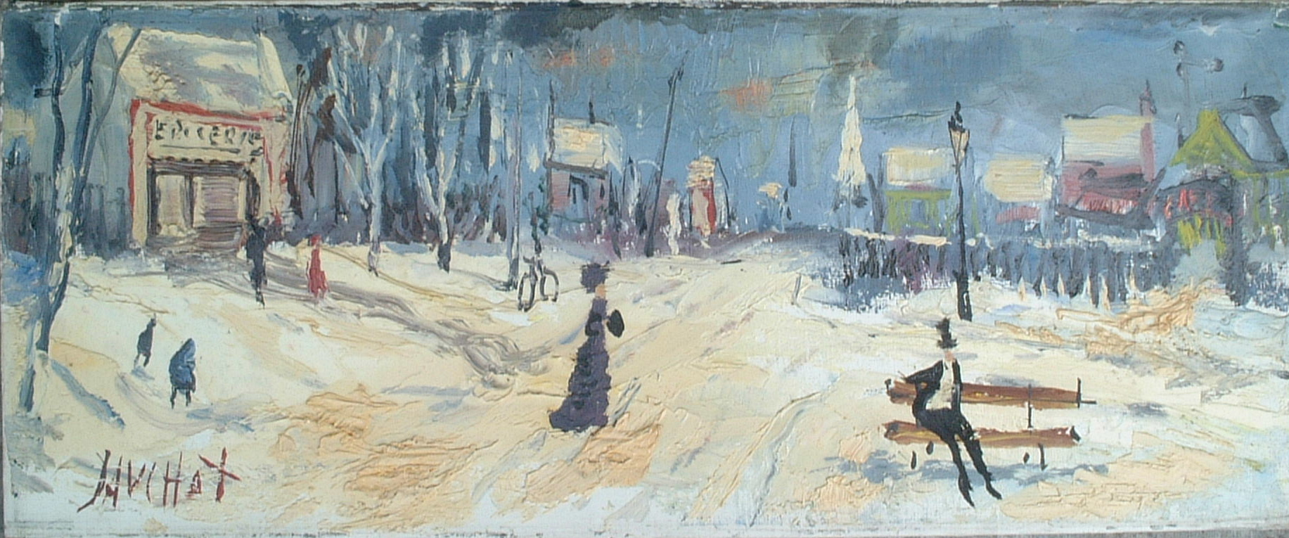 Artist: Gabriel Dauchot Title: The Rendezvous Size: 7.5in x 18.5in
