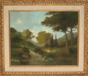 Artist: Louwenhoek Van Veger Title: A Walk in the Woods Size: 20in x 24in Framed: Yes