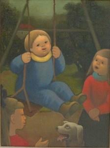 Artist: Madeleine Luka Labalancoir Size: 28.5in x 21in Framed: No Medium: Oil on Canvas