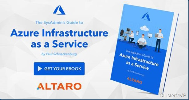 FREE eBook - The SysAdmin Guide to Azure Infrastructure as a Service #Azure #SysAdmin #Altaro