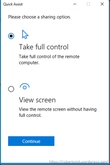 windows quick assist