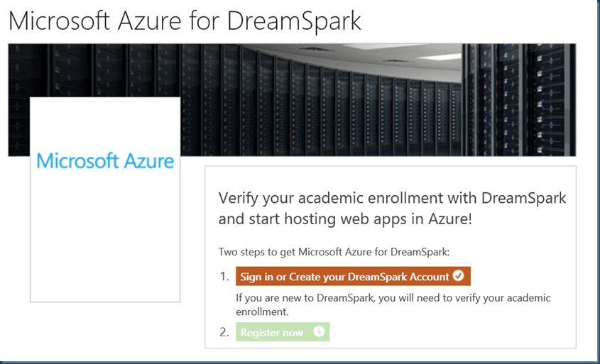 Microsoft Azure for DreamSpark