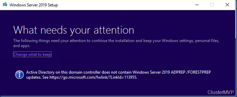 Upgrading Windows server 2016 Domain controller to Windows Server 2019