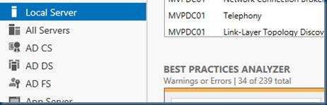 Windows Server 2012 R2 Best Practices Analyzer #BPA #winserv