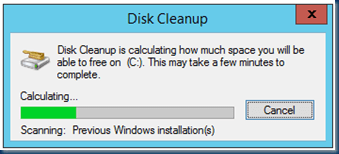 Cleanup Windows old after upgrading to Windows Server 2012