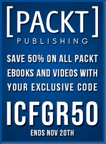 50% Packtpub discount