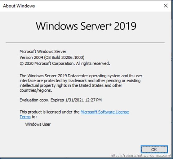 Windows Server LTSC vNext Preview Build 20206