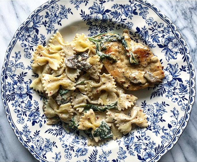 Creamy Mushroom Spinach Chicken