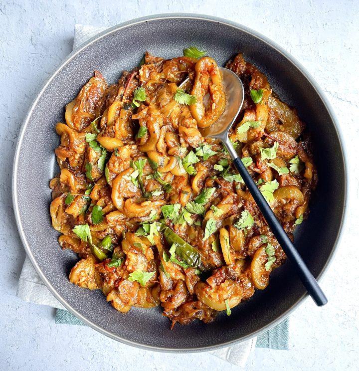 turai ki sabzi (stewed zucchini)