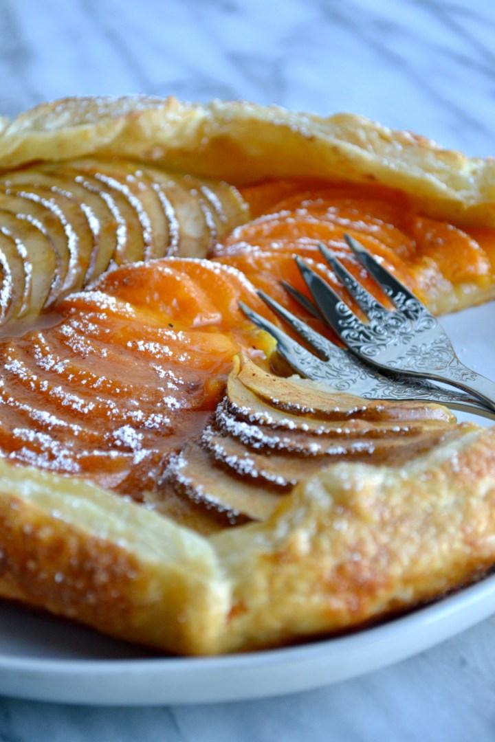 Apricot Pear Crostata