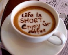 Life is Shore, Coffee Art, Beatutiful Coffee Art Pictures