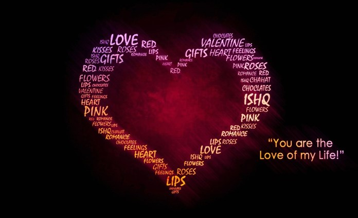 Love Text Heart, Love Wallpaper Collection 2020