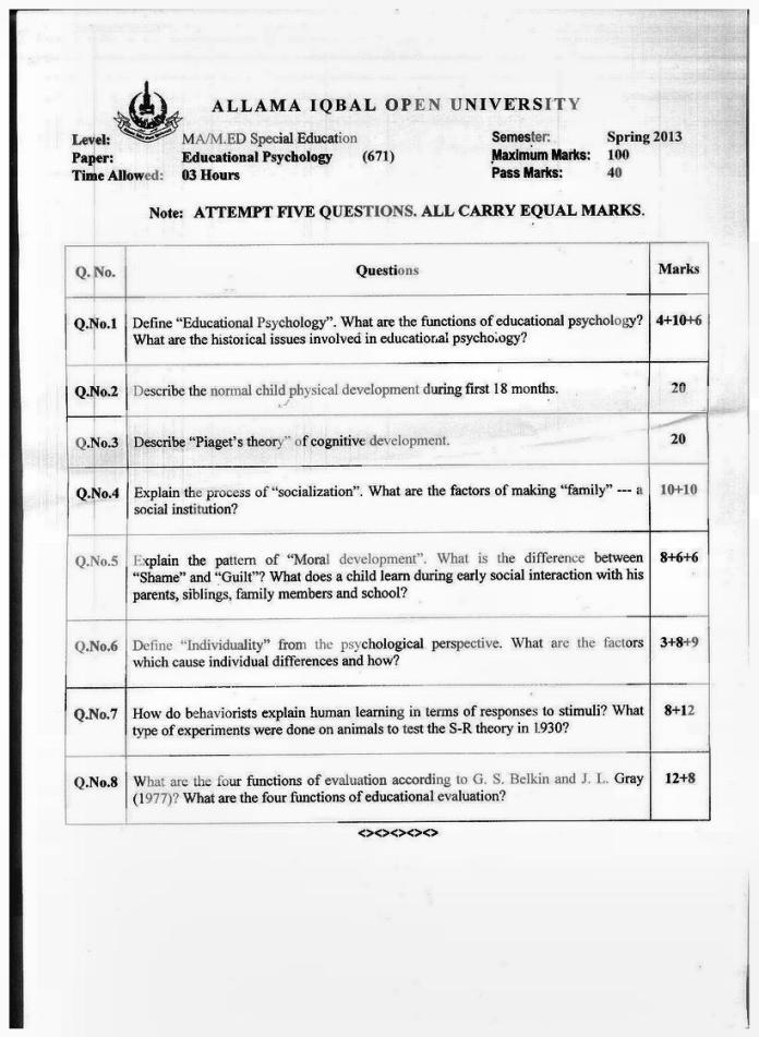 MA M.Sc Psychology Past Papers Download (5)