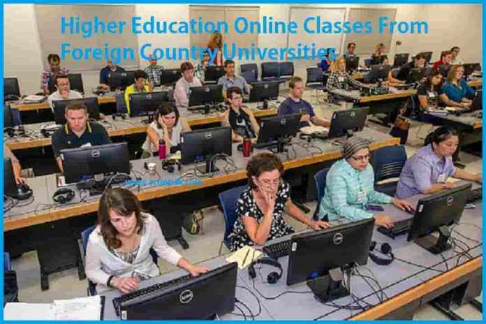 Foreign Countries Online Class Started For Higher Education