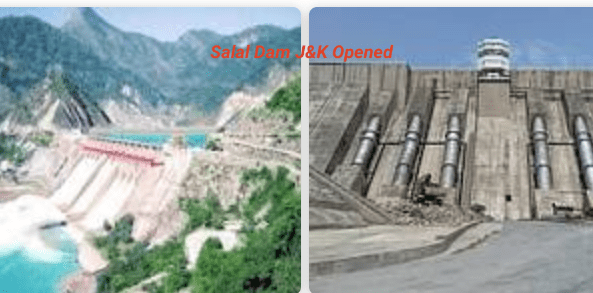 Gates Salal Dam on Chenab River opened in J&K