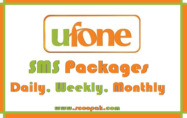 Ufone SMS Packages 2020 Daily, Weekly And Monthly