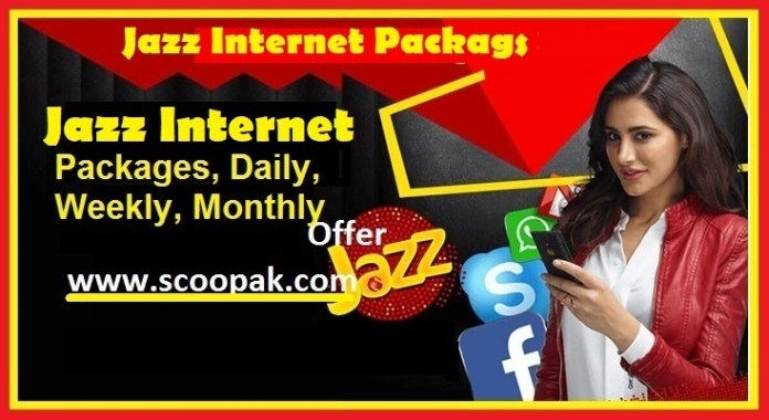 Jazz Internet Packages 2021 Monthly-Weekly-Daily & Hourly