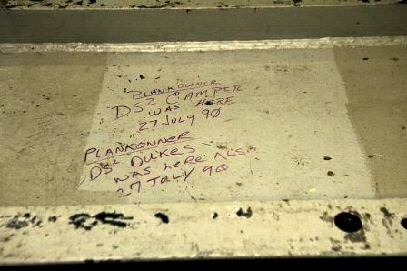 Plankowners made their mark on the aircraft carrier Abraham Lincoln more than two decades ago. (carrier Abraham Lincoln via Facebook)