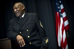 Bill Cosby speaks during a 2011 ceremony at the Navy Memorial in Washington, D.C., where he was named an honorary chief petty officer (MC2 Kevin S. O'Brien/Navy)