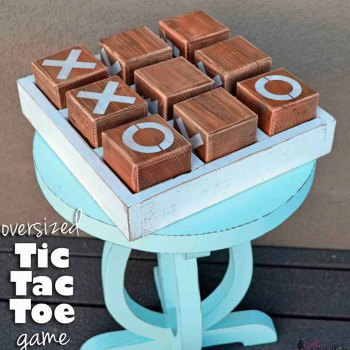 How To Make A Wooden Tic Tac Toe Game