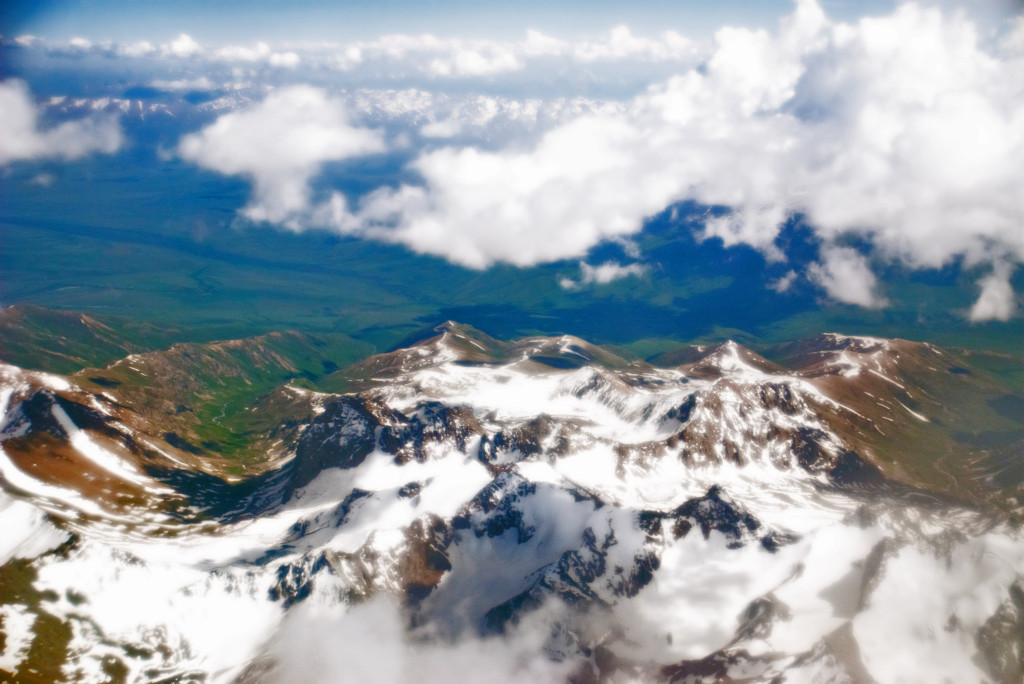 Pamir Mountains from an airplane, June 2008