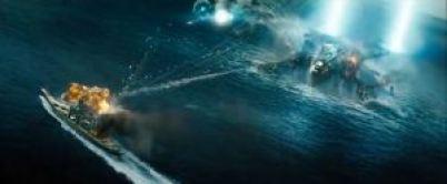 Here's the Missouri battling an alien craft.