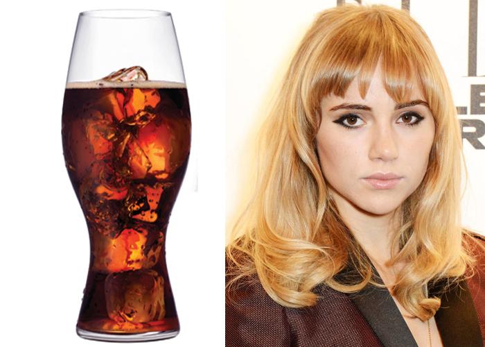 Suki Waterhouse Uses Coca Cola