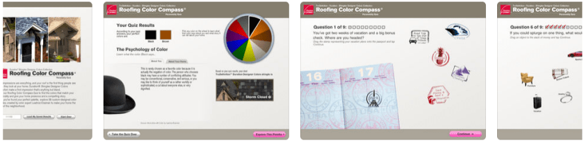 roofing color compass