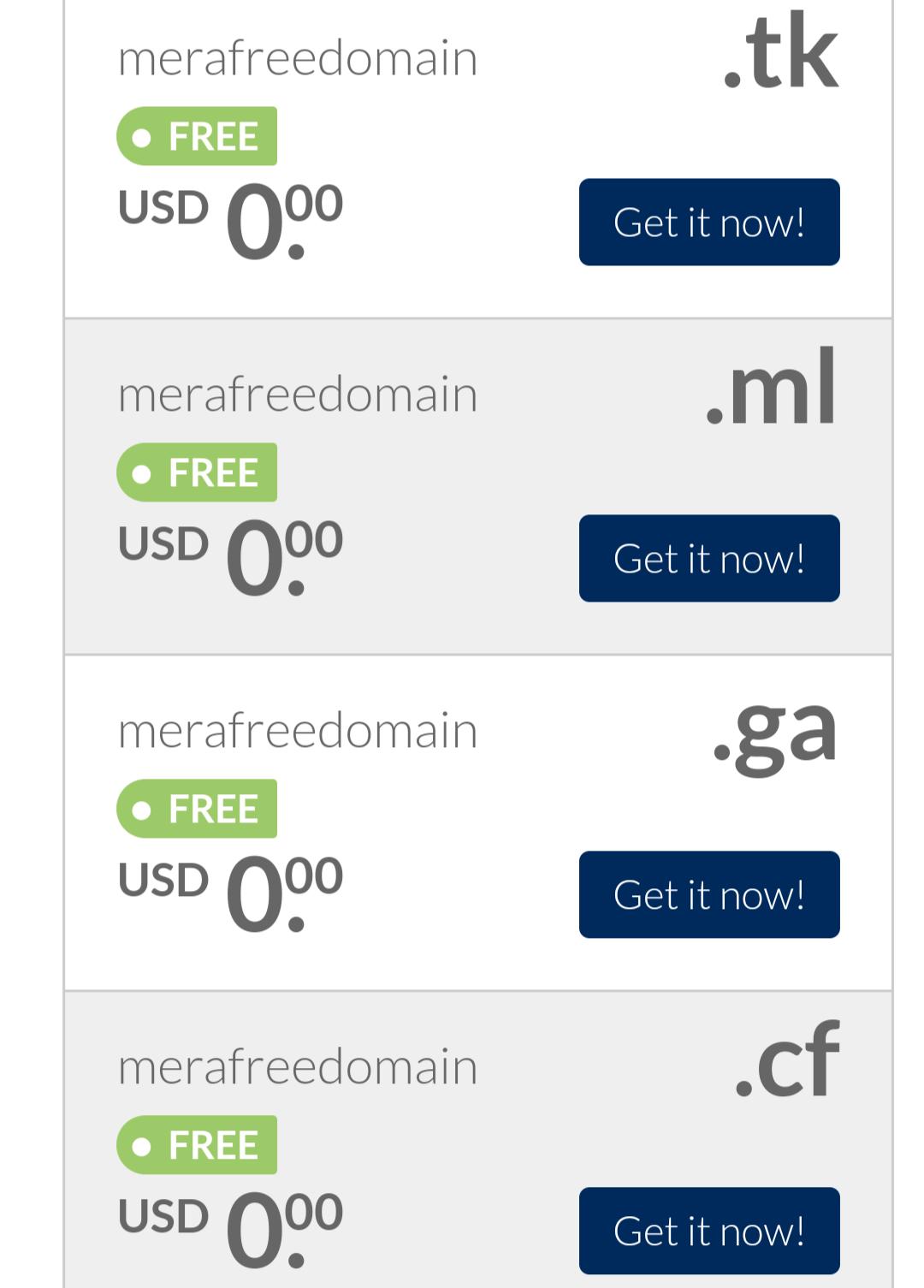 free website domain