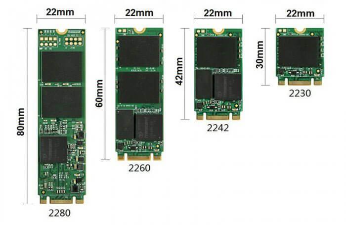 M2 SSD Dimensions