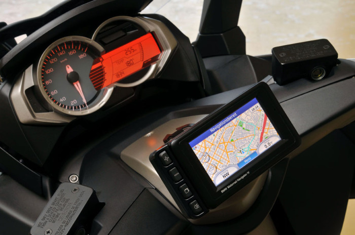 BMW's OEM GPS mount for the C-Series scooters