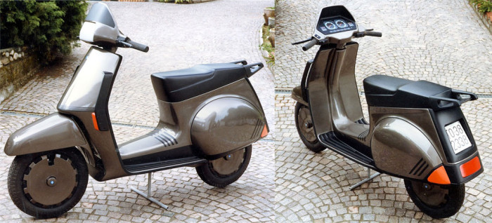 Full-scale model of Paolo Martin's Vespa H2O GS200 (1984)