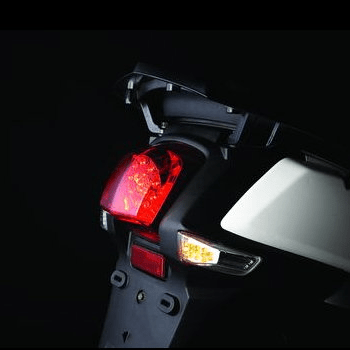 In contrast with the leaked photo, the PGO Libra's rear lighting configuration, above, may be the one on the final production version of the Genuine Hooligan 170i.