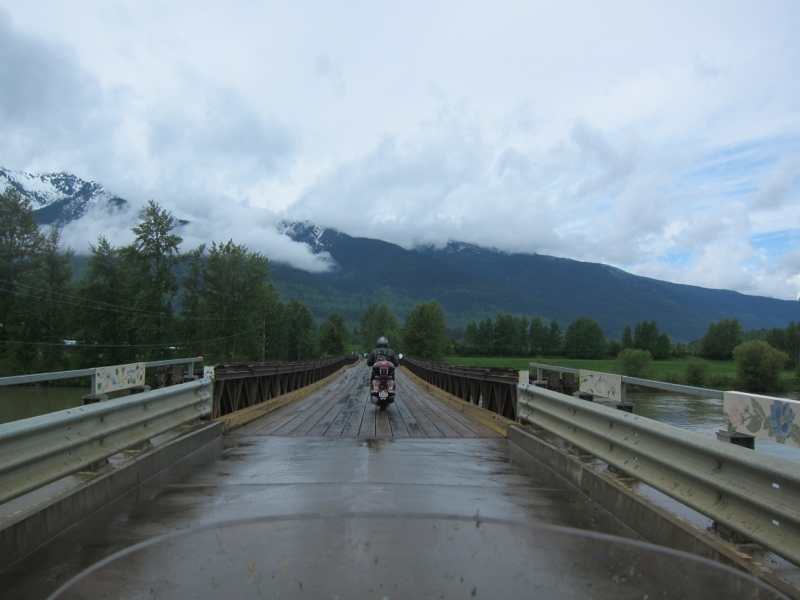 Day 2: Dirt road, wood bridge, rain