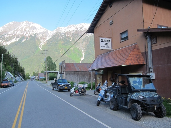 "The Glacier Inn, where we get ""Hyderized."""