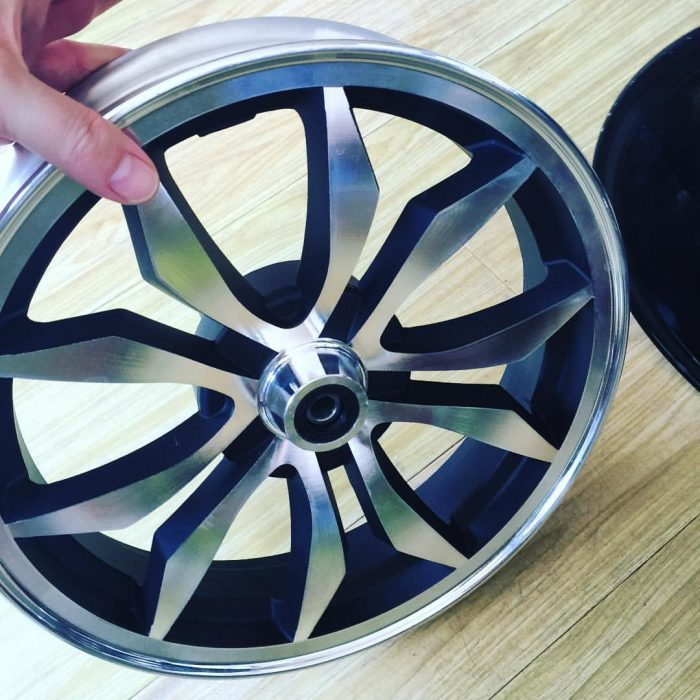 Optional 12 inch custom front wheel