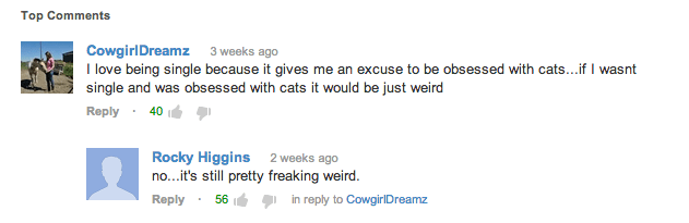 Why I Hate Being Single YouTube Comments