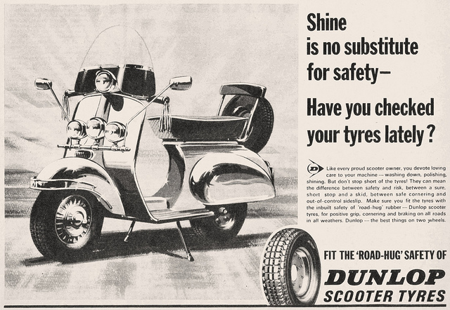 Dunlop tyre advert circa mid-60s