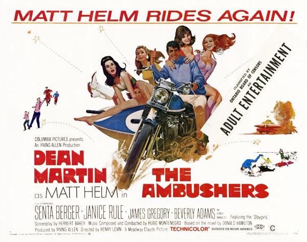 Ambushers film poster from 1967