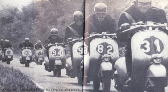 Vespa Sei Giorni scooters at Monza