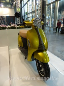 An unknown brand of Chinese scooter displayed at Eicma, Milan.