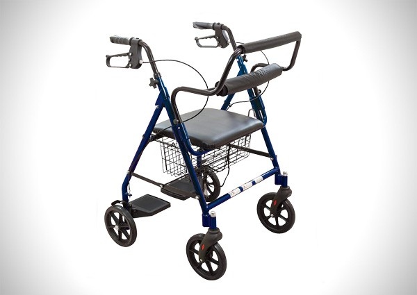 ProBasics Transport Rollator Walker With Seat and Wheels - Folding Walker And Transport Chair