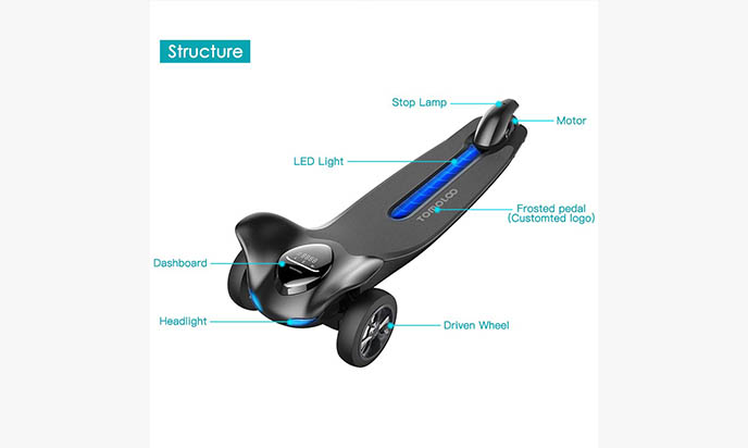 Three Wheels Electric Skateboard
